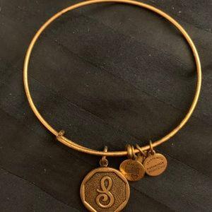 """Alex and Ani """"S"""" charm bracelet"""